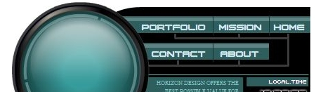 Create a cool futuristic website interface