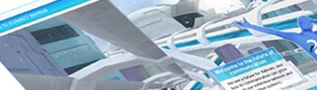 Futuristic city, 3D techniques in Flash
