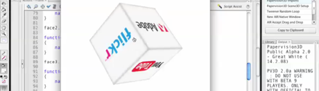 Papervision3D 2.0 Interactive Cube