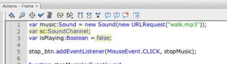 Tutorial - Using Sound in ActionScript 3
