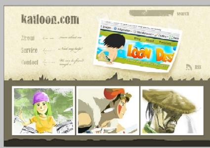 Tutorial   Design a Cartoon Grunge Website Layout