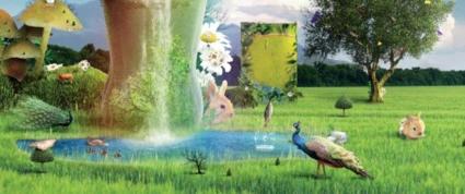 Combine photos to create surrealist landscapes