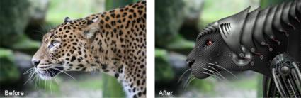 Create a cyborgenic Leopard