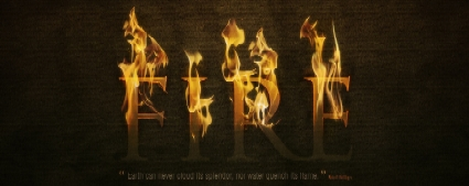 Dramatic Tect On Fire Effect in Photoshop