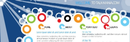 Web 2.0 vector layout