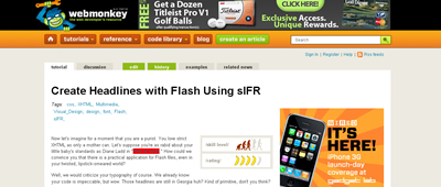 Create Headlines with Flash Using sIFR