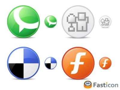 Circle Social Bookmark Icons